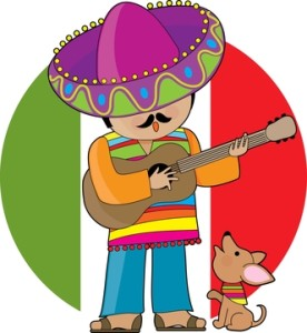 Man playing guitar with Chihuahua